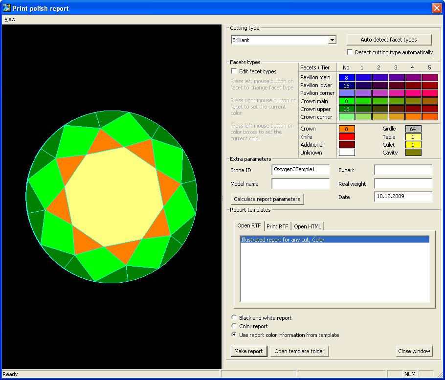 OctoNus Products : Customizing Oxygen / DiamCalc Polish reports